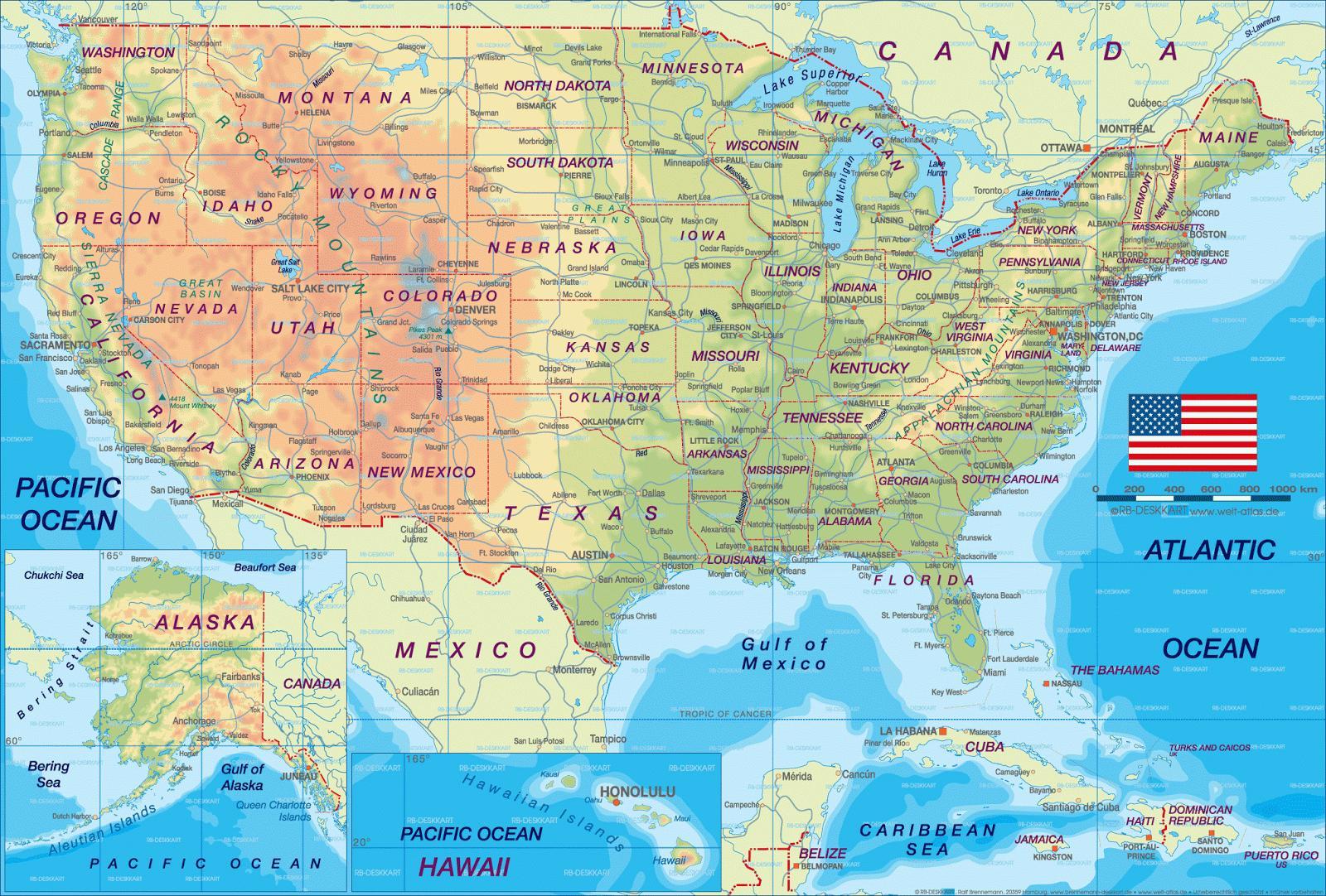 karta usa städer Karta över städer i USA   USA karta över städer (Nordamerika och  karta usa städer