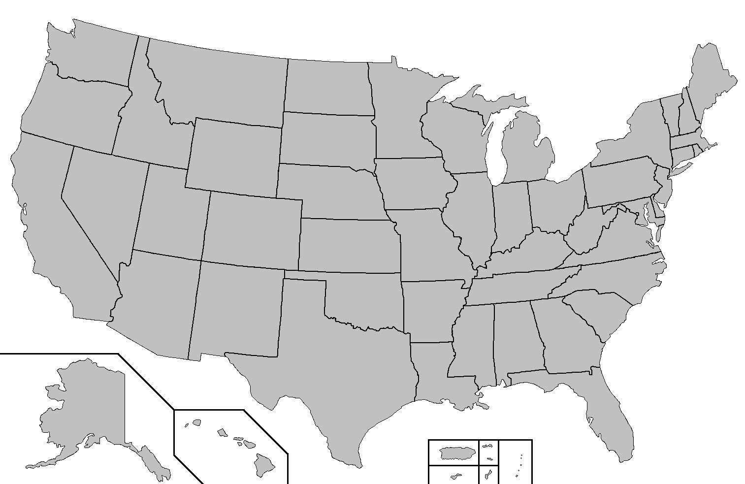 Oss Karta Stater Quiz Karta Av Oss Staterna Fragesport