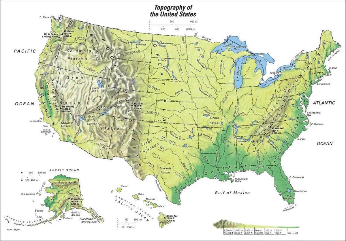 Karta Bergskedjor Karta 2020