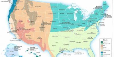 Usa Klimatzon Karta Karta Av Oss Klimat Norra Amerika Nord Och